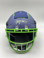 Marshawn Lynch Signed Full-Size Hydro-Dipped F7 Helmet (PSA Hologram) at PristineAuction.com