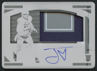 Jordan Love 2020 Panini National Treasures Collegiate Printing Plates #120 Jersey Autograph RC #1/1 at PristineAuction.com