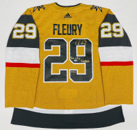 "Marc-Andre Fleury Signed Golden Knights LE Jersey Inscribed ""Sin City Stopper"" (Fanatics Hologram) at PristineAuction.com"