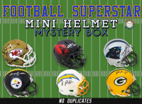 Schwartz Sports Football Superstar Signed Mini Helmet Mystery Box - Series 6 (Limited to 75) – NO DUPLICATES! at PristineAuction.com