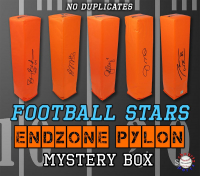 Schwartz Sports Football Star Signed Endzone Pylon Mystery Box - Series 2 (Limited to 50) – NO DUPLICATES!! at PristineAuction.com