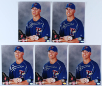 Lot of (5) Jason Arnold Signed Blue Jays 8x10 Photos (Hollywood Collectibles Hologram) at PristineAuction.com