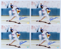 Lot of (4) Jeff Reardon Signed Red Sox 8x10 Photos (Hollywood Collectibles Hologram) at PristineAuction.com