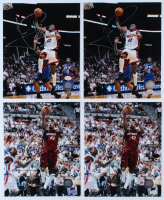 """Lot of (4) James Posey Signed Heat 8x10 Photos Inscribed """"World Champs"""" (Hollywood Collectibles Hologram) at PristineAuction.com"""