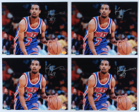 Lot of (4) Kenny Anderson Signed Nets 8x10 Photos (Hollywood Collectibles Hologram) at PristineAuction.com