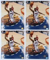 "Lot of (4) Dorell Wright Signed Heat 8x10 Photos Inscribed ""World Champs"" (Hollywood Collectibles Hologram) at PristineAuction.com"