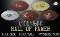Schwartz Sports Football Hall of Famer Signed Full-Size Football Mystery Box – Series 9 (Limited to 100) at PristineAuction.com
