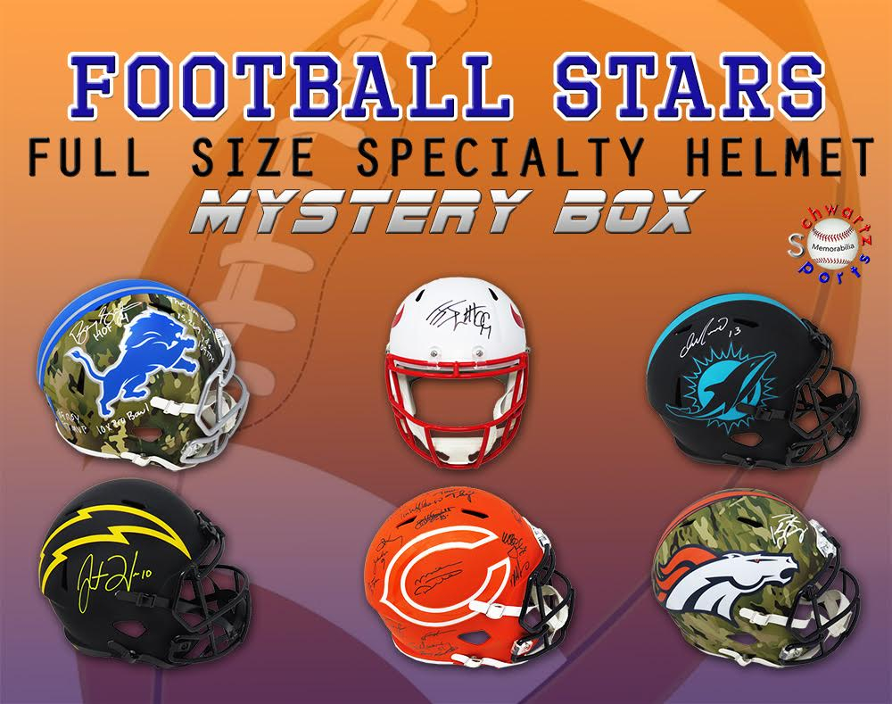 Schwartz Sports Football Superstar Signed SPECIALTY Full-Size Helmet Mystery Box – Series 8 (Limited to 100) at PristineAuction.com