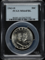 1963-D Franklin Half Dollar (PCGS MS64 FBL) at PristineAuction.com