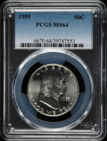 1955 Franklin Half Dollar (PCGS MS64) at PristineAuction.com