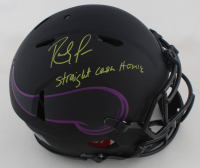 "Randy Moss Signed Vikings Full-Size Eclipse Alternate Speed Helmet Inscribed ""Straight Cash Homie"" (Beckett COA) (See Description) at PristineAuction.com"