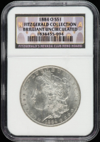 1884-O Morgan Silver Dollar - Fitzgerald Collection (NGC Brilliant Uncirculated) at PristineAuction.com