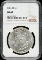 1904-O Morgan Silver Dollar (NGC MS62) at PristineAuction.com