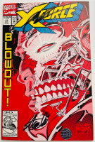 "Stan Lee & Rob Liefeld Signed 1992 ""X-Force"" Issue #13 Marvel Comic Book (Beckett LOA) at PristineAuction.com"