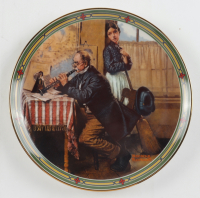 "Norman Rockwell ""The Musician's Magic"" Limited Edition Hand-Numbered Vintage Art Plate at PristineAuction.com"