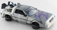 """Christopher Lloyd Signed """"Back to the Future II"""" Delorean Time Machine Light Up Die-Cast Car (Beckett COA) at PristineAuction.com"""