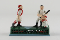 Vintage Cast Iron Baseball 7x9 Action Bank at PristineAuction.com