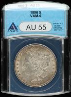 1896 Morgan Silver Dollar - VAM-6 (ANACS AU55) at PristineAuction.com