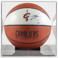 LeBron James Signed Cavaliers Logo Basketball with Display Case (UDA COA) (See Description) at PristineAuction.com