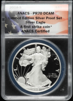 2018-S American Silver Eagle $1 One Dollar Coin - First Strike (ANACS PR70 DCAM) at PristineAuction.com