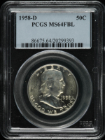 1958-D Franklin Half Dollar (PCGS MS64 FBL) at PristineAuction.com