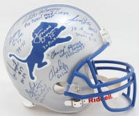 Lions Full-Size Helmet Signed By (26) With Lem Barney, Charlie Sanders, Billy Sims, Lomas Brown, Gail Cogdill (JSA ALOA) at PristineAuction.com