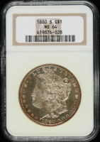 1880-S Morgan Silver Dollar (NGC MS64) (Toned) at PristineAuction.com