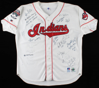 Indians Jersey Signed By (26) With Gaylord Perry, Bob Feller, Jack Morris, Hal Naragon (JSA ALOA) at PristineAuction.com