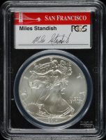 2014-S American Silver Eagle $1 One Dollar Coin, First Strike, Struck at San Francisco - Miles Sandish Signed Label (PCGS MS70) at PristineAuction.com