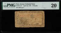 1759 New Jersey 3 Three Pounds Colonial Currency Note (PMG Very Fine 20) at PristineAuction.com