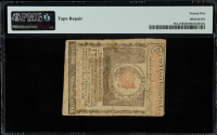 1780 Massachusetts $1 Dollar Colonial Currency Note (PMG Very Fine 25) at PristineAuction.com