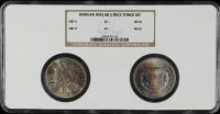 Set of (2) 1883-O Morgan Silver Dollars (NGC MS64 & MS65) (Toned) at PristineAuction.com