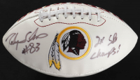 "Ricky Sanders Signed Redskins Logo Football Inscribed ""2x SB Champs!"" (JSA COA) at PristineAuction.com"
