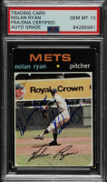 "Nolan Ryan Signed 1971 Topps #513 Inscribed ""The Ryan Express"" (PSA Encapsulated) at PristineAuction.com"