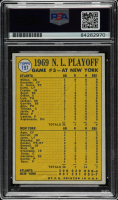 """Nolan Ryan Signed 1970 Topps #197 NL Playoff Game Inscribed """"100.7 M.P.H. Fastball"""" (PSA Encapsulated) at PristineAuction.com"""