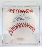 Ken Griffey Jr. Signed OAL Baseball with Display Case (JSA COA) (See Description) at PristineAuction.com