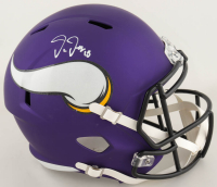 Justin Jefferson Signed Vikings Full-Size Speed Helmet (Beckett COA) (See Description) at PristineAuction.com