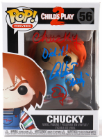"""Alex Vincent & Ed Gale Signed """"Child's Play 2"""" #56 Chucky Funko Pop! Vinyl Figure Inscribed """"Chucky Did It!"""" & """"Andy"""" (JSA COA & Beckett Hologram) at PristineAuction.com"""