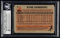 Ryne Sandberg Signed 1983 Topps #83 RC (BGS Encapsulated) at PristineAuction.com
