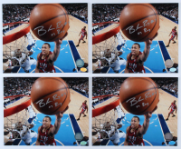 """Lot of (4) Brandon Roy Signed Trail Blazers 8x10 Photos Inscribed """"07 ROY"""" (Hollywood Collectibles Hologram) at PristineAuction.com"""