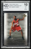 LeBron James 2003 Upper Deck LeBron James Box Set #27 / Tall Task (BCCG 10) at PristineAuction.com