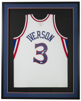 Allen Iverson Signed 34.5x42.5 Custom Framed Jersey (JSA COA) at PristineAuction.com