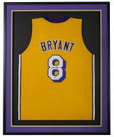 Kobe Bryant Signed 34.5x42.5 Custom Framed Jersey (Beckett COA) at PristineAuction.com