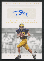 Tom Brady 2015 Panini National Treasures Collegiate Multisport Signatures Gold #59 - #9/10 at PristineAuction.com
