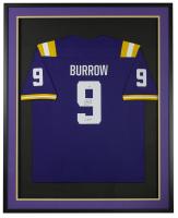 "Joe Burrow Signed 34.5x42.5 Custom Framed Jersey Inscribed ""19 Heisman"" (Fanatics Hologram) at PristineAuction.com"
