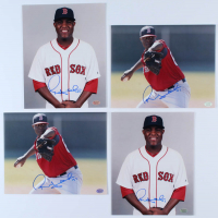 Lot of (4) Rubby De La Rosa Signed Red Sox 8x10 Photos (Hollywood Collectibles Hologram) at PristineAuction.com