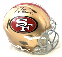 George Kittle Signed 49ers Full-Size Authentic On-Field Speed Helmet (Beckett COA) at PristineAuction.com