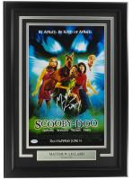 "Matthew Lillard Signed ""Scooby-Doo"" 11x17 Custom Framed Movie Poster Display Inscribed ""Shaggy"" (PSA COA) at PristineAuction.com"