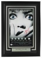 "Matthew Lillard Signed ""Scream"" 11x17 Custom Framed Movie Poster Display Inscribed ""Stu"" (PSA COA) at PristineAuction.com"