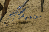 """Mike Smith Signed 16x20 Custom Framed Photo Display Inscribed """"2018 Triple Crown"""" (Stiener COA) at PristineAuction.com"""